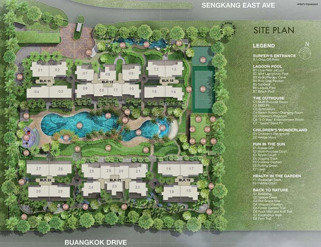 Austville Residences Site Plan and Facilities