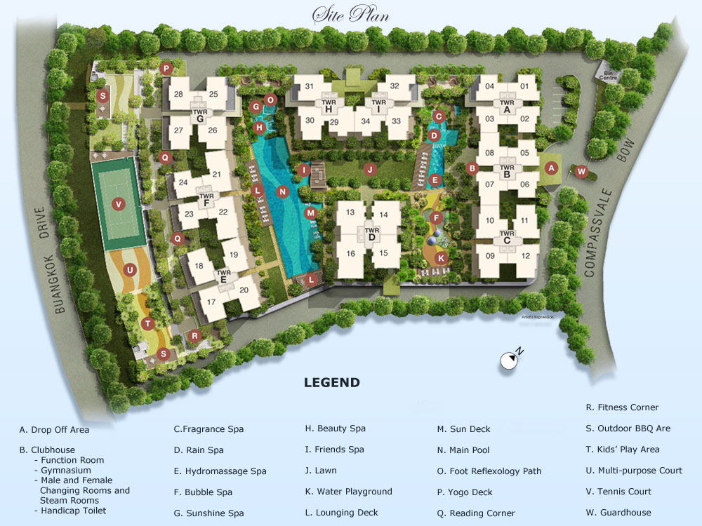Esparina Residences Site Plan & Facilities