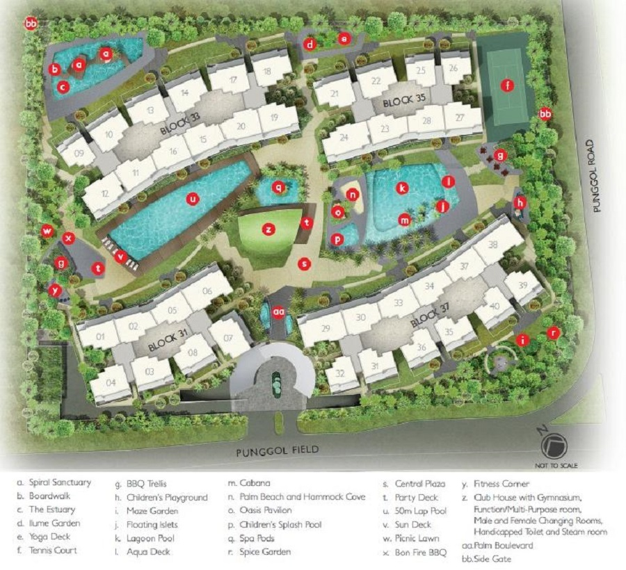 Prive Site Plan and Facilities