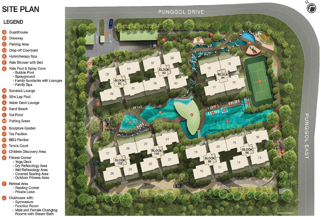 RiverParc Residence EC Site Plan and Facilities