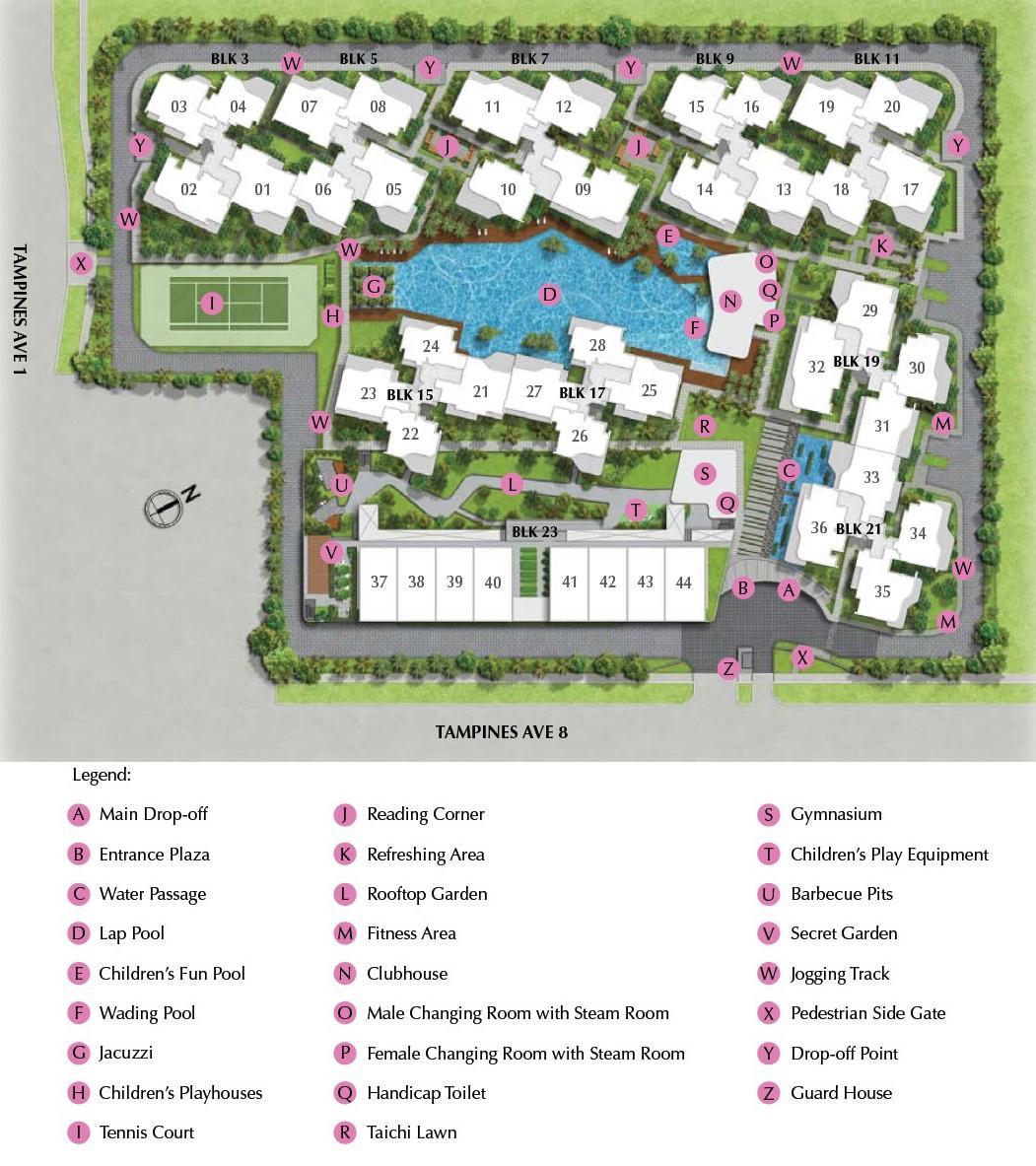 Arc at Tampines EC Site Plan & Facilities