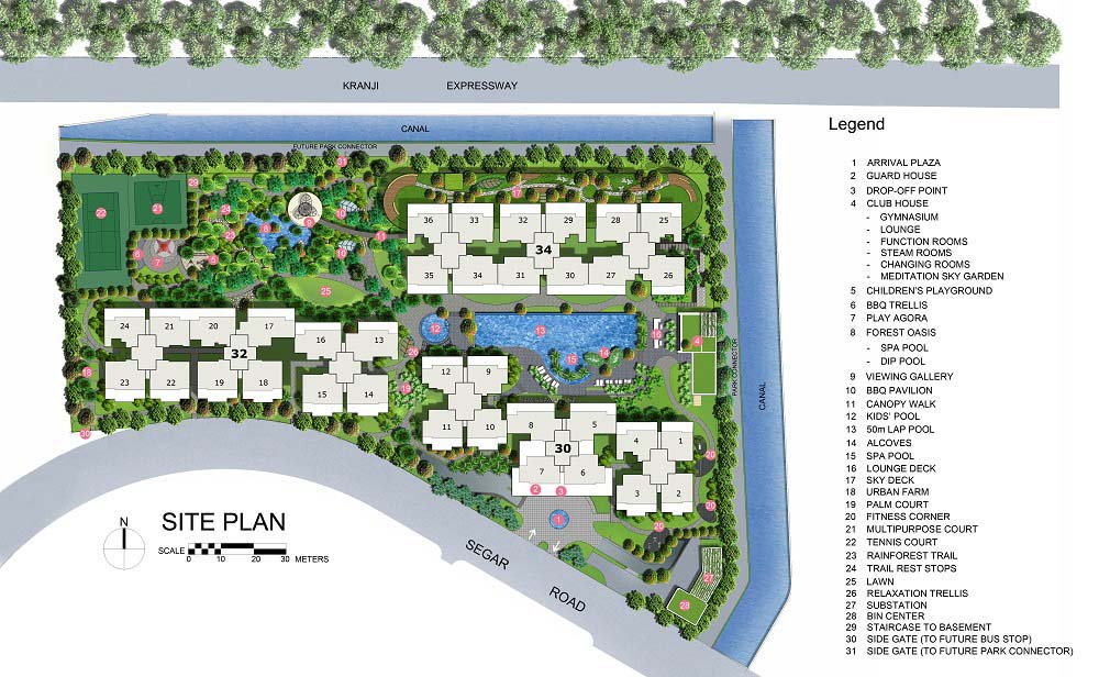 Blossom Residences EC Site Plan and Facilities