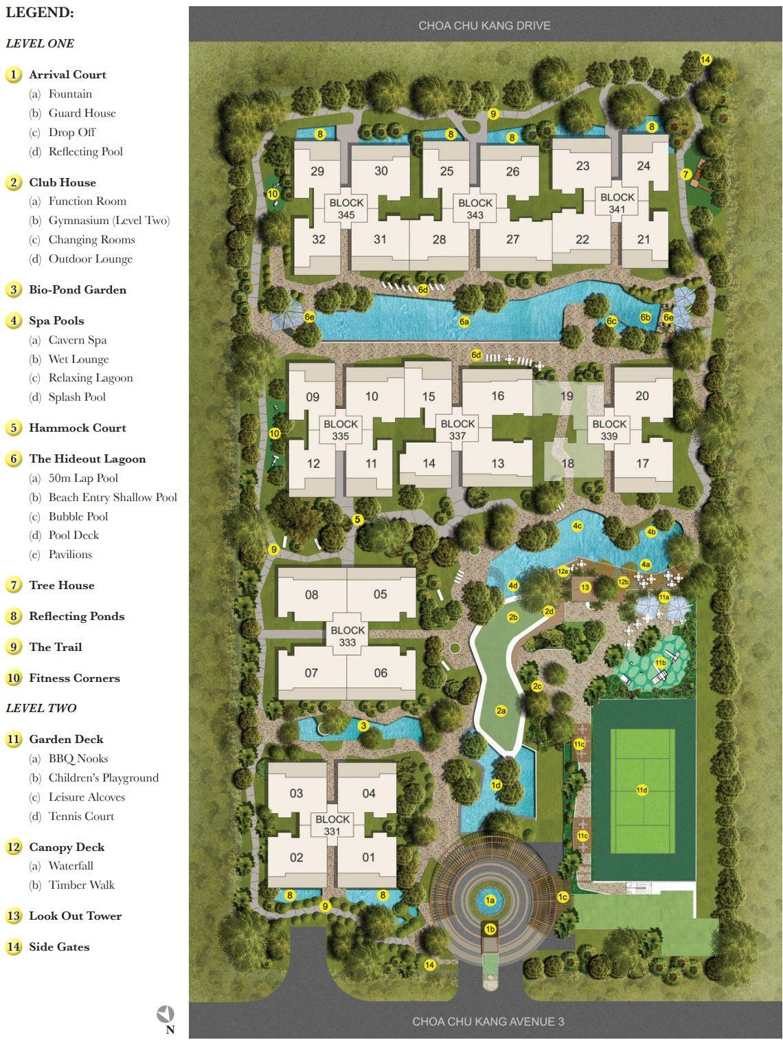 The Rainforest EC Site Plan & Facilities
