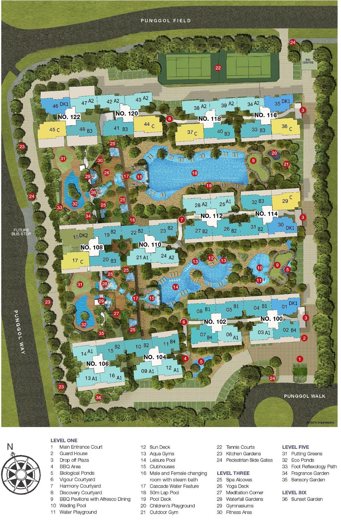 Twin Waterfalls Site_Plan & Facilities