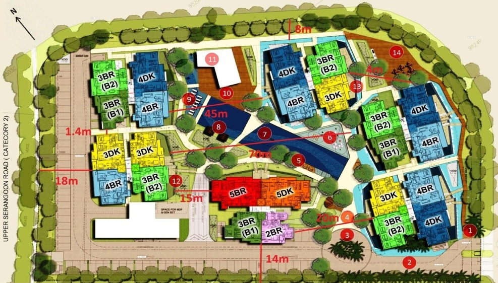 Heron Bay Site Plan With Room Type