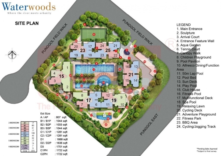 Waterwoods Site Plan and Facilities