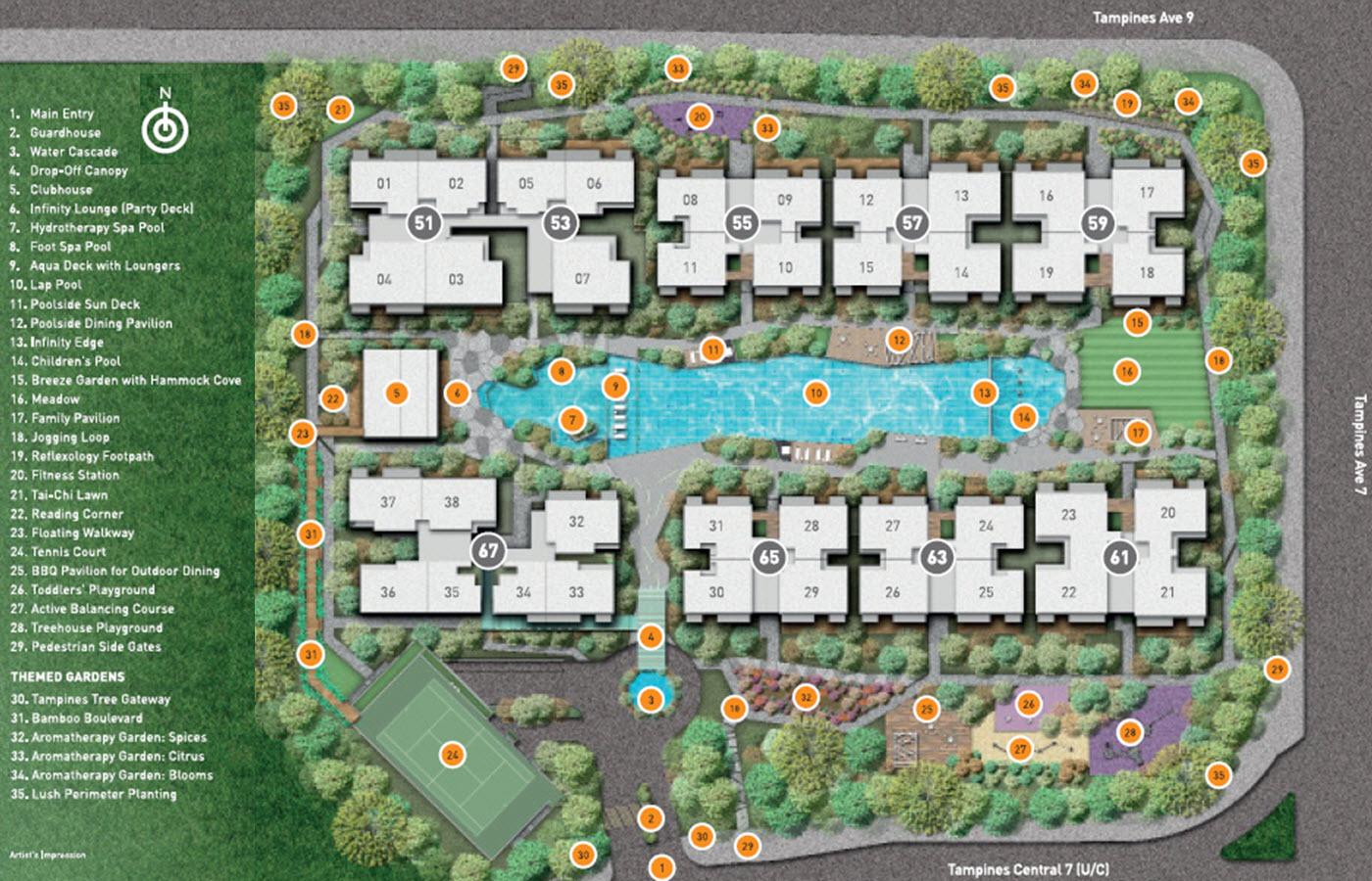 Citylife At Tampines EC Site Plan & Facilities