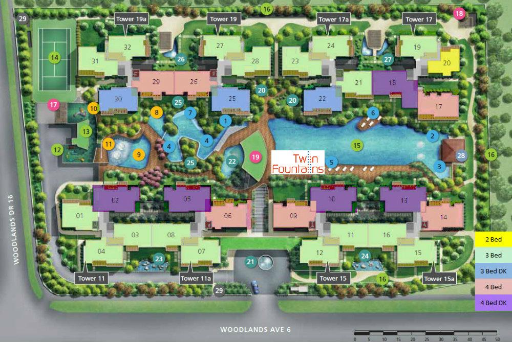 Twin Fountains EC Site Plan & Facilities