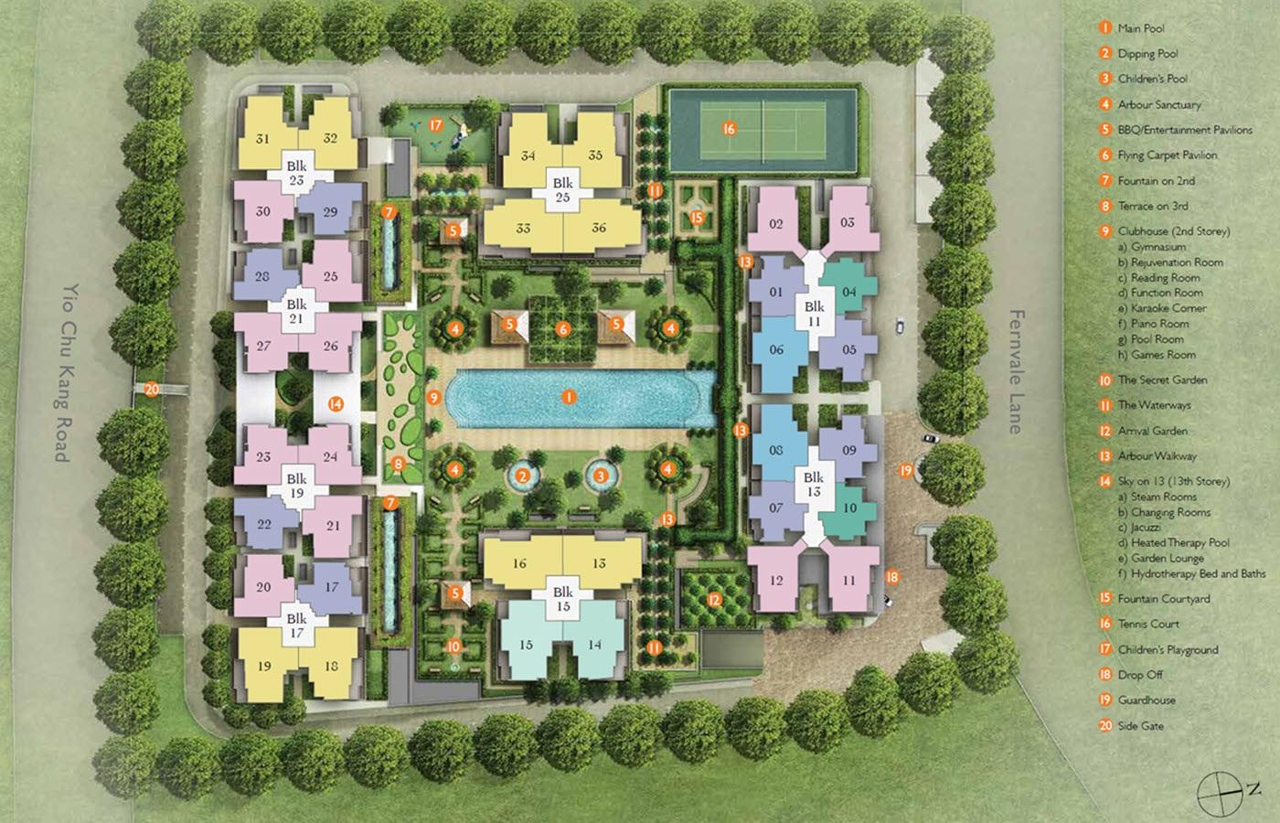 The Topiary EC Site Plan & Facilities Plan