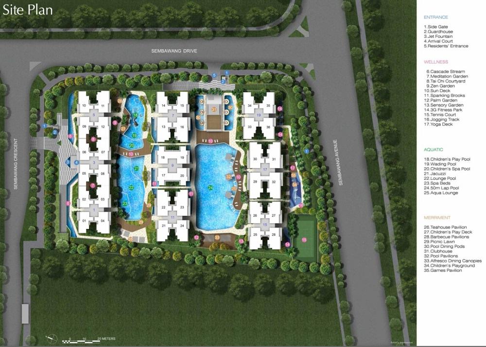 SkyPark Residences EC Site Plan & Facilities
